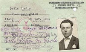 Ellis Island Immigration Id Card